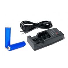 Зарядное устройство WF-139 Li-Ion + адаптер на авто + аккумуляторы: 2шт Li-Ion 18650 2600mAh. РСТ.