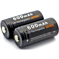 Аккумулятор Soshine LiFePO4 RCR123 Battery Protected 600mAh 3V