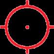 A65/1 (65 МОА диаметр круга, 1 МОА диаметр точки внитри)