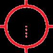 AR223 (65 МОА диаметр круга, 0.5 МОА диаметр 4х точкек внитри)